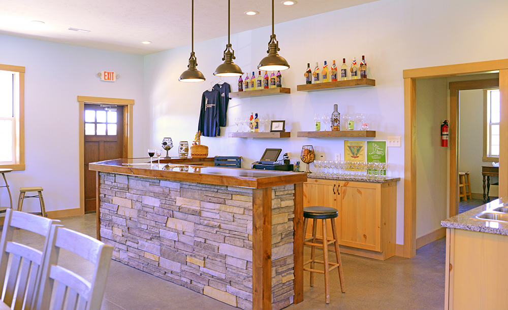 Tasting room in a Winery